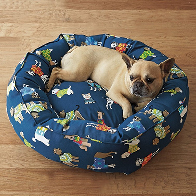 Product Feature: Hot Dog Round Dog Bed