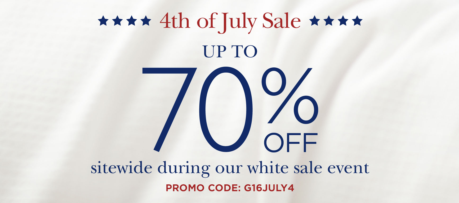 Fourth of July Sale Starts Now!
